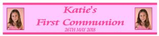 Personalised Girl Photo First Communion Banner Design 2